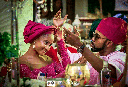 Photo of Adesua Etomi and Banky W steal the show at Gabriel Afolayan's Ibadan wedding (photos)
