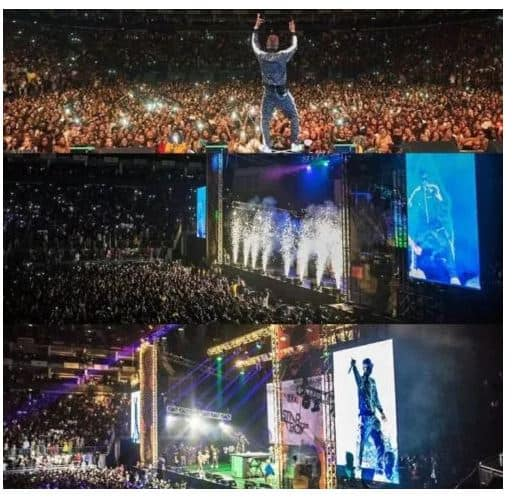 Photo of Davido reacts after seeing the crowd Wizkid pulled out at 02arena in London