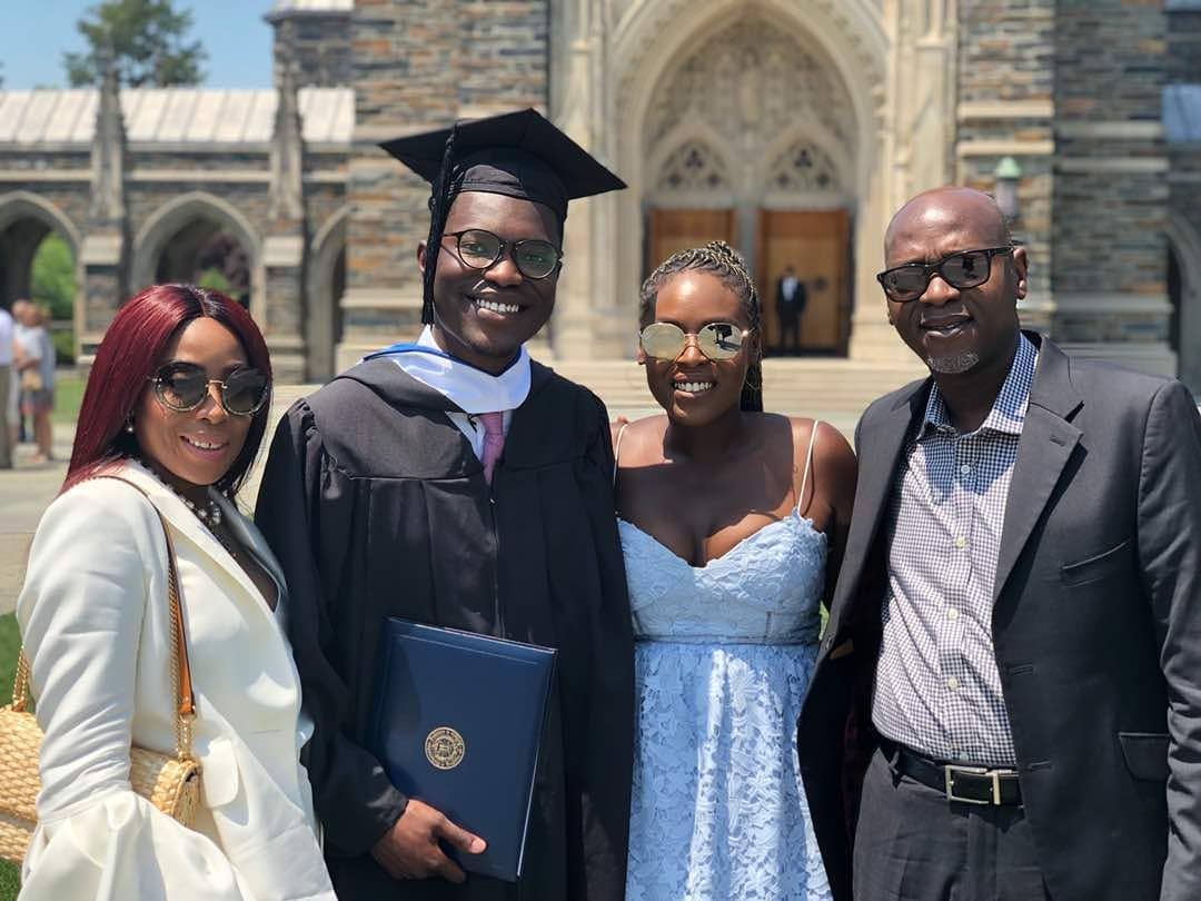 Photo of Mo Abudu and hubby reunite as son graduates from Duke University (photos)