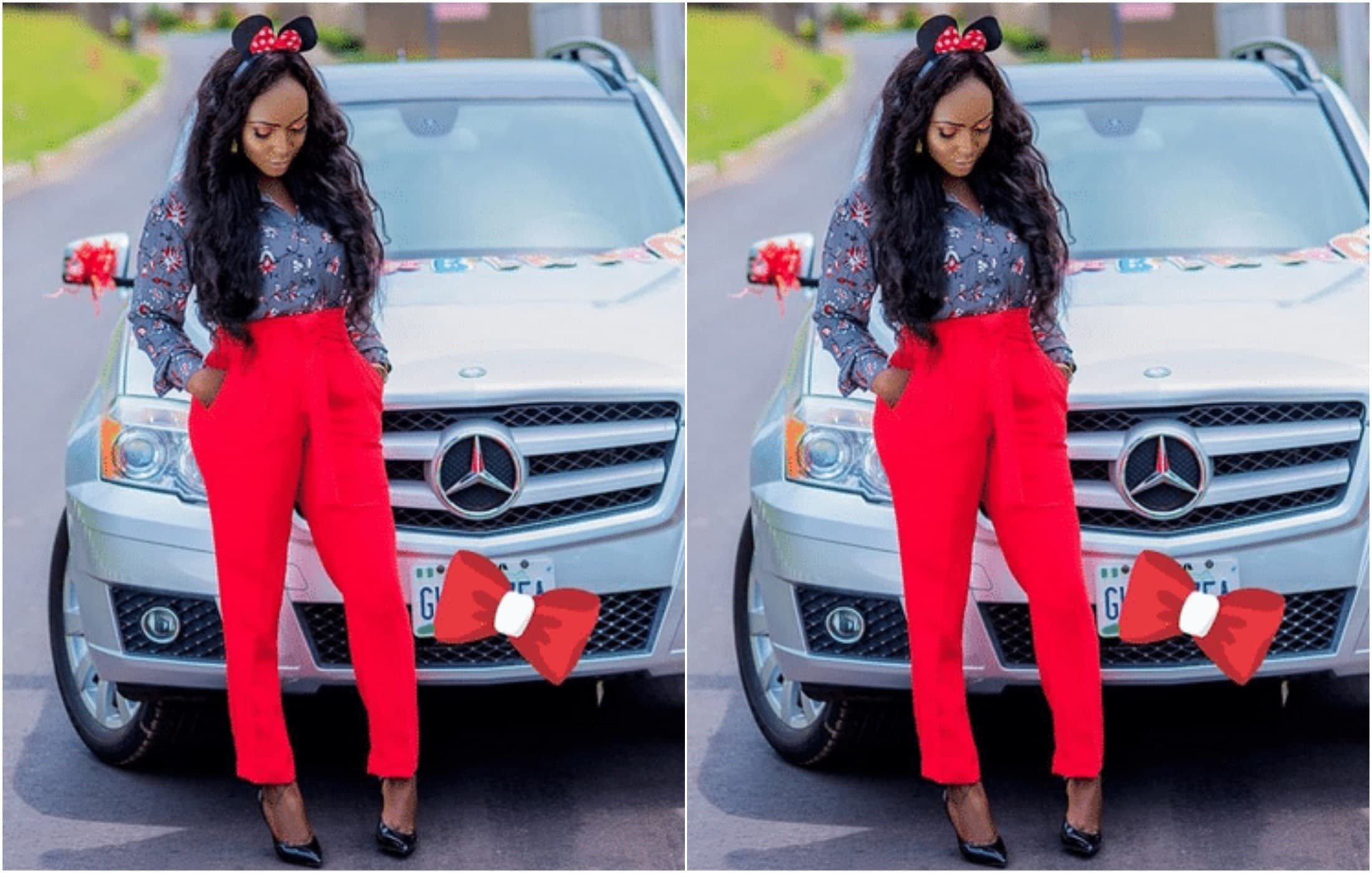 Blessing Okoro buys Benz for 29th birthday