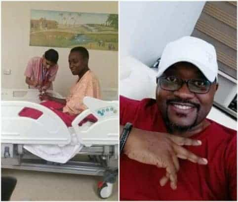 Photo of Joyous wife thanks her husband for donating his liver to her (Photos)