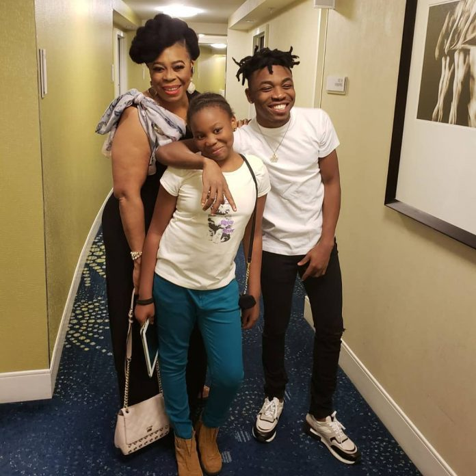 Photo of Mayorkun and mum reunite after two years of being apart (photos)