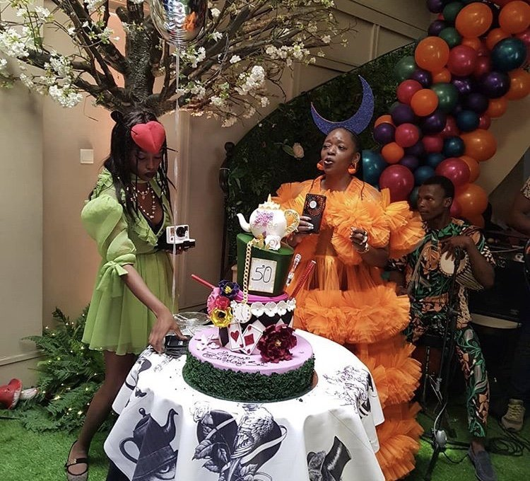 Photo of Photos from Femi Gbajabiamila's Wife's Mad Hatter-themed 50th Birthday Party