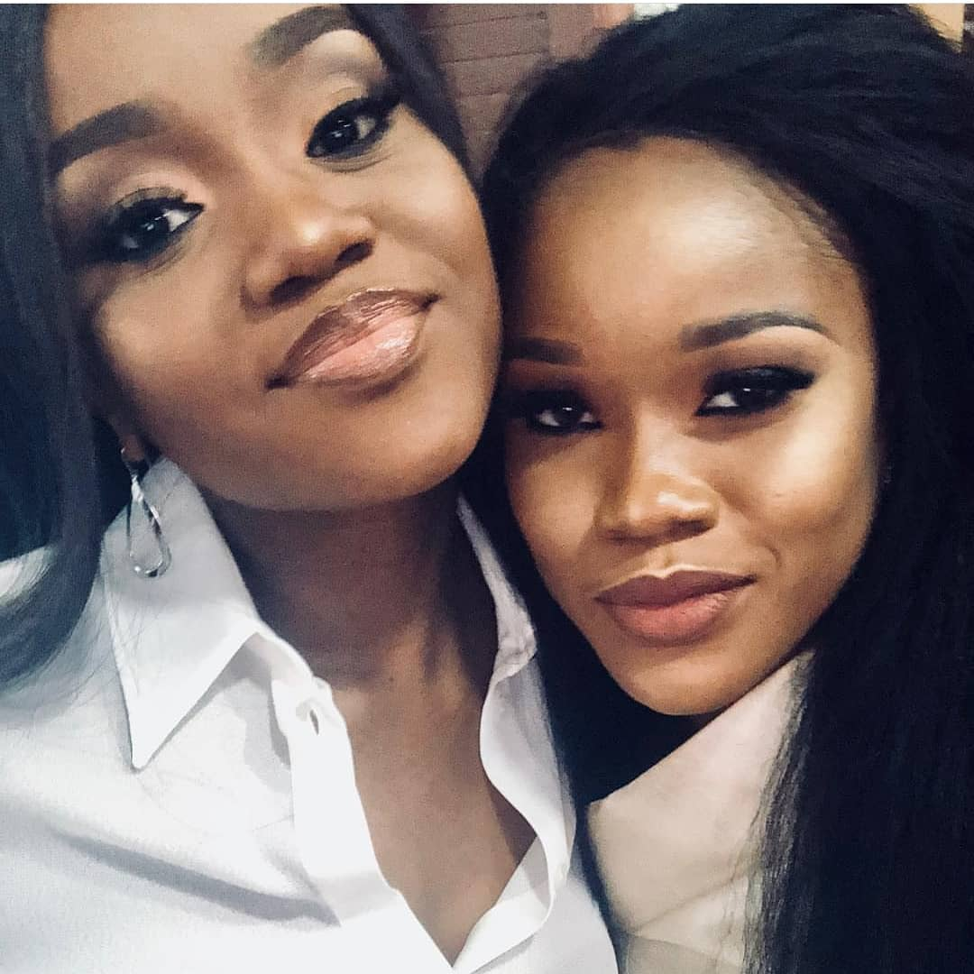 See the resemblance between Davido's girlfriend, Chioma and Cee-C as they meet