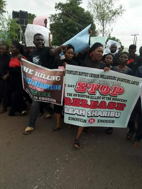 Christians protest in Nasarawa against Fulani herdsmen, demand release of Leah Sharibu