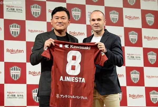 Barcelona legend, Andres Iniesta joins Japanese club, Vissel Kobe