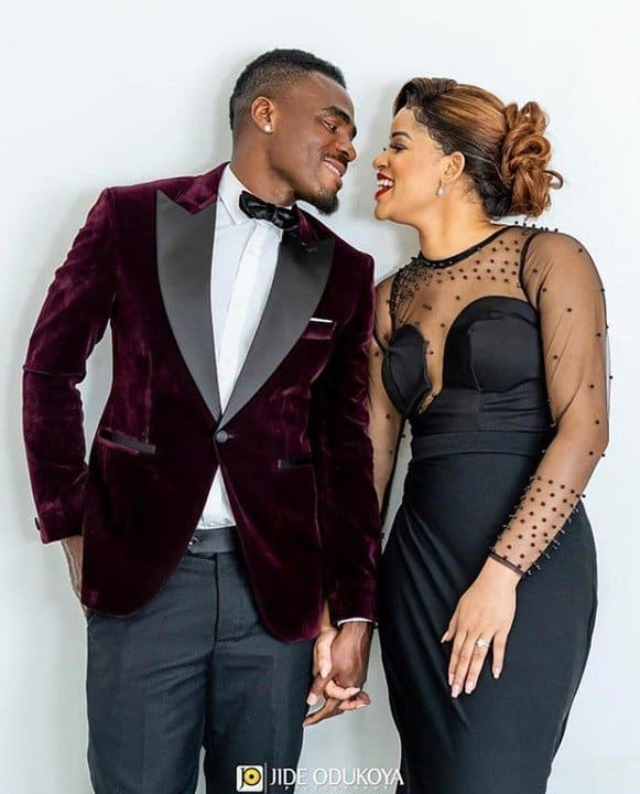 Photo of Pre-wedding photos of ex-Super Eagles player, Emenike and his MBGN fiancee