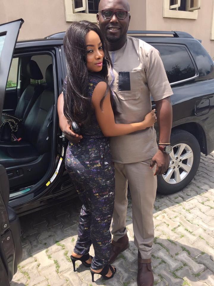 Toke Makinwa reacts as her ex, Seyi Kuye got married