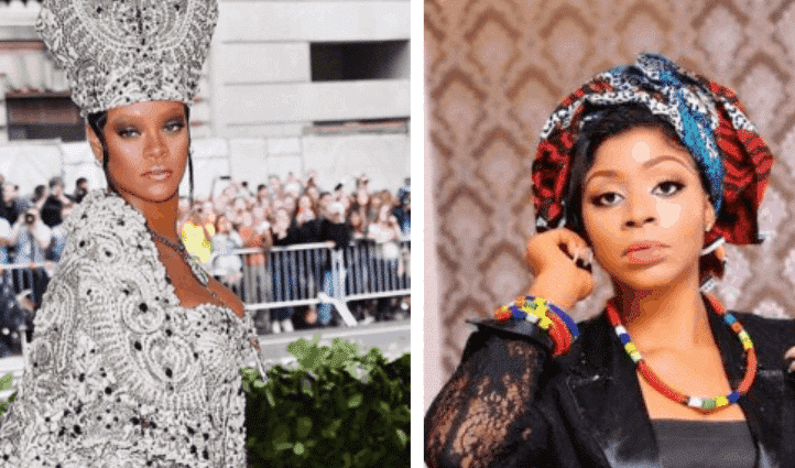 Photo of Beauty Queen, Nneze Richards slams Rihanna for wearing Pope's mitre to MET Gala