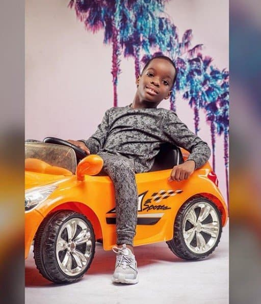 Photo of Wizkid's first son, Boluwatife Balogun becomes a CEO at 7