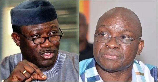 Photo of Fayose reacts to Buhari's statement over Fayemi's victory