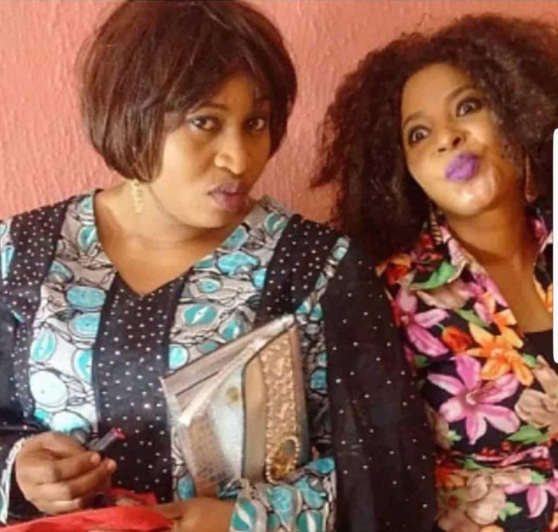 Moji Olaiya and Aisha Abimbola together