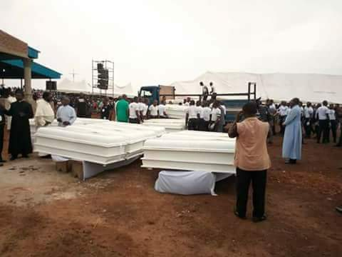 Corpse of 2 Catholic priests and others killed by Fulani herdsmen arrive Ayati