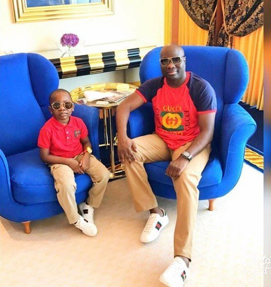 Photo of Dubai based big boy, Mompha  buys his son a house for his 6th birthday