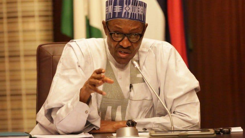 Photo of President Buhari's democracy day speech (May 29, 2018)