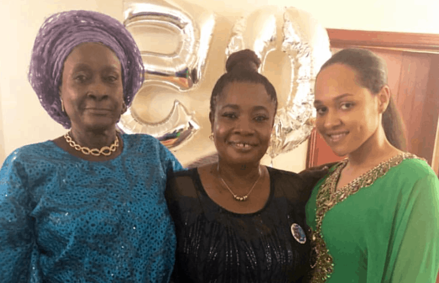 Photo of Tania Omotayo in adorable photo with mother and grandma