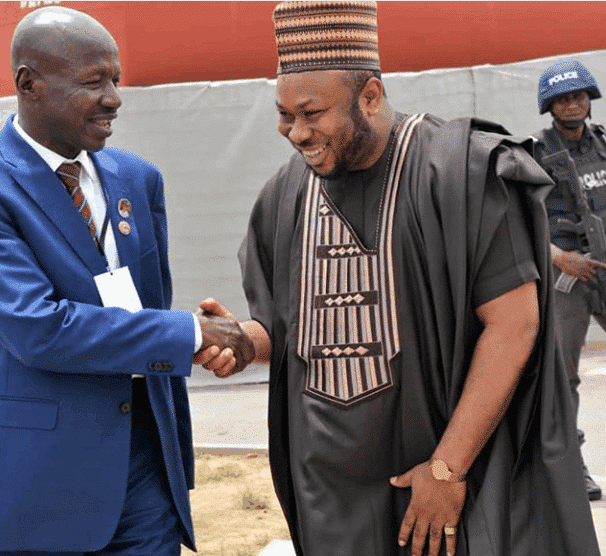 Photo of Olakunle Churchill meets with EFCC chairman, Magu, days after Tonto Dikeh called him Papa fraudster
