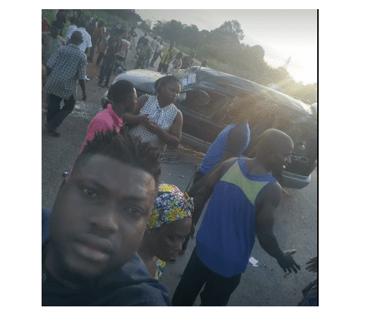 Photo of Facebook user narrates his experience surviving an accident