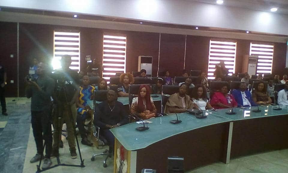 Rochas Okorocha hosts, BBNaija winner, Miracle at the Imo government house