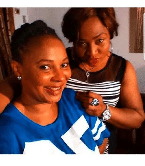 Photo of Photos of late actresses, Moji Olaiya and Aisha Abimbola together
