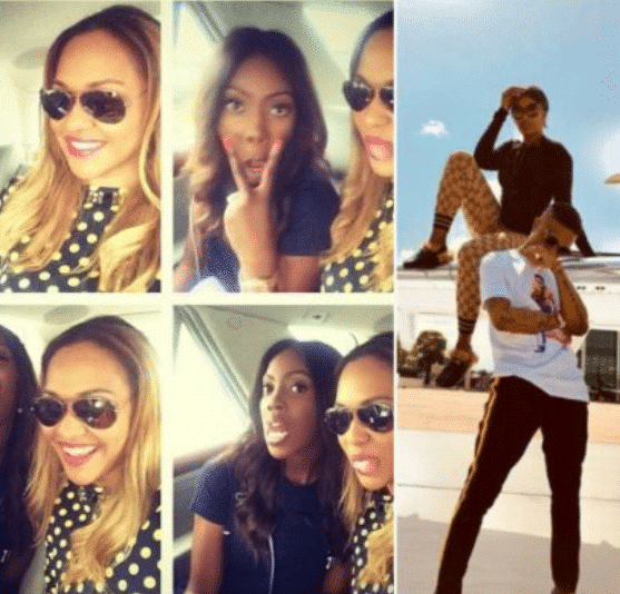 Tania Omotayo and Tiwa Savage unfollow each other because of Wizkid