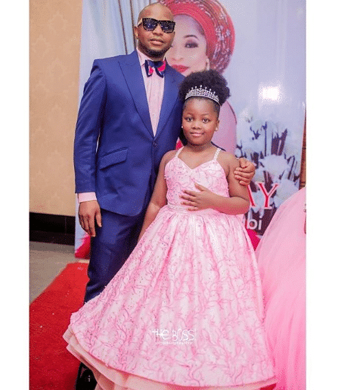 Kemi Afolabi shows off her husband and daughter at her birthday party