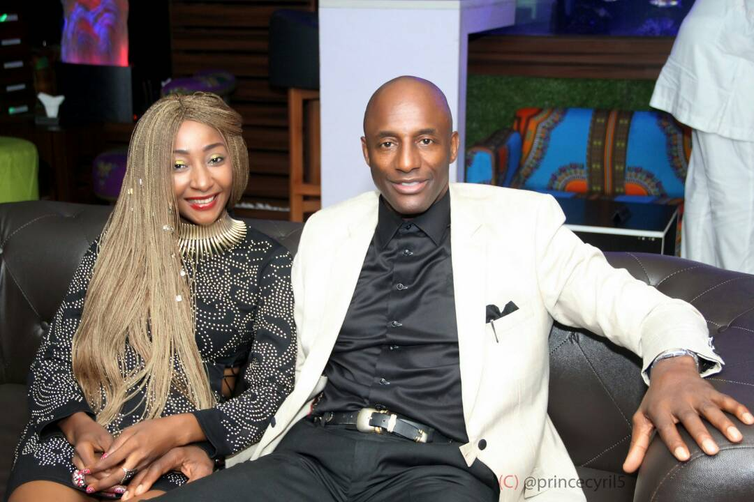 Photo of John Fashanu and actress Rachel Bakam spotted together looking loved up
