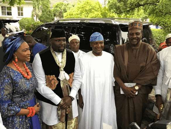 Photo of Dangote, Akpabio, others present at Donald Duke's daughter's traditional wedding