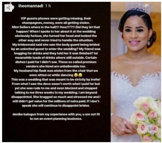 Iheoma Nnadi and Emenike's wedding reacts