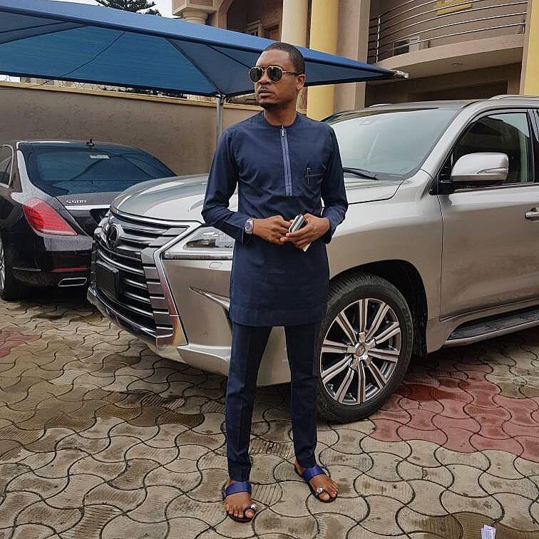 Photo of Quilox boss, Shina Peller shows off the amazing cars in his garage