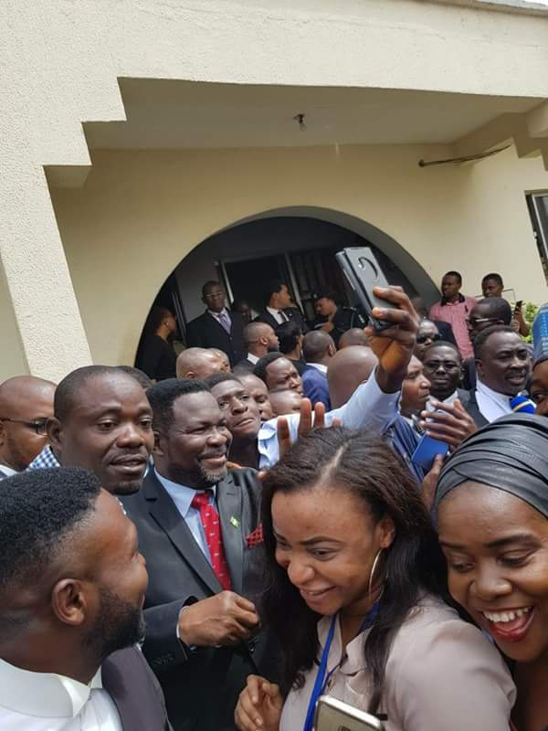 Photo of Jubilation as lawyers representing Dino Melaye get released from prison