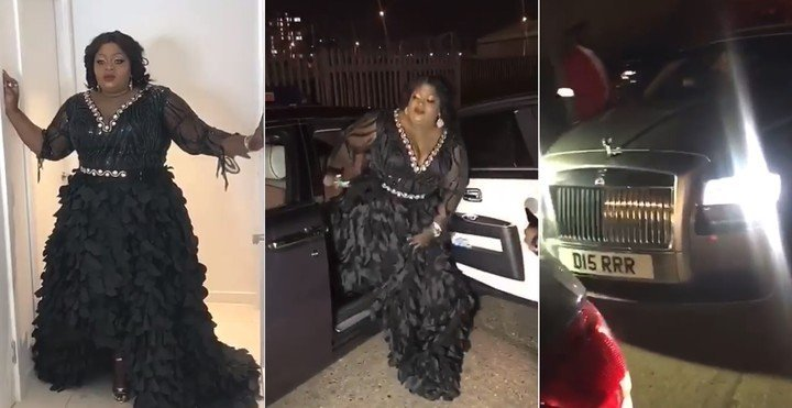Eniola Badmus rolled in a Rolls Royce to the London premiere of her movie Ghetto Bred