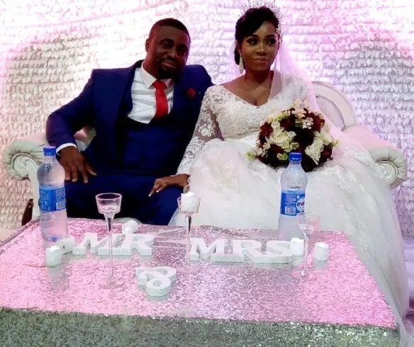 Nollywood stars present as pregnant actress, Wunmi Toriola weds her lover