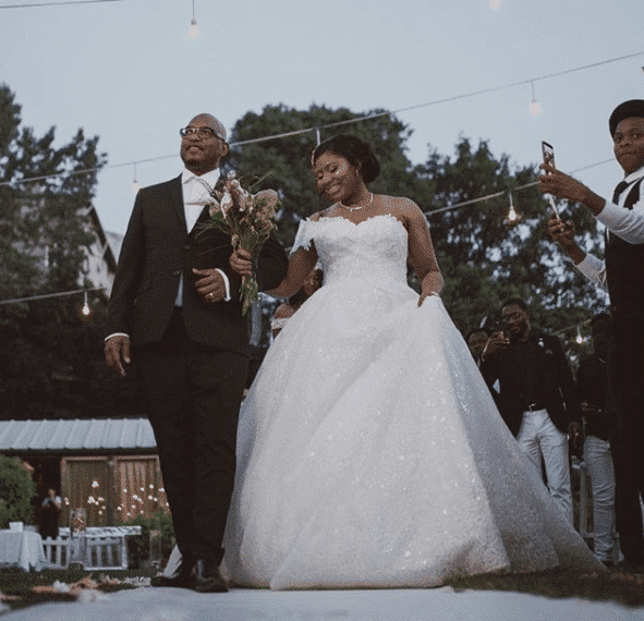 white wedding of Super Eagles player, Kenneth Omeruo