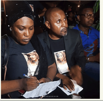 Photo of Photos from candlelight procession for Aisha Abimbola by Nollywood Actors