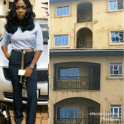 Photo of Founder of popular relationship blog, Blessing Okoro shares touching story, shows off newly built house