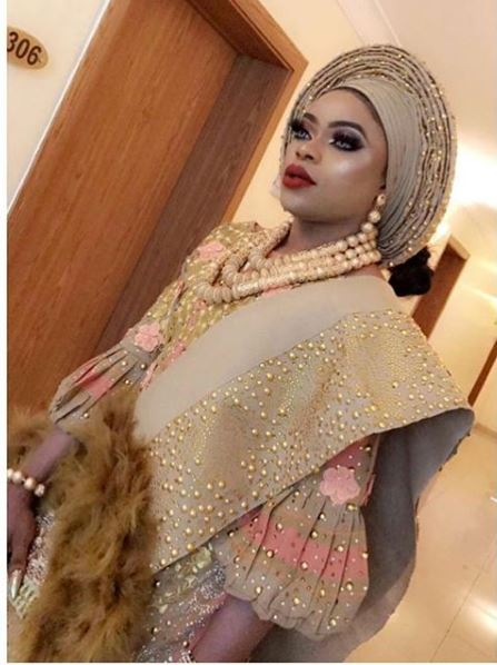 Photo of Bobrisky's first look as a bride
