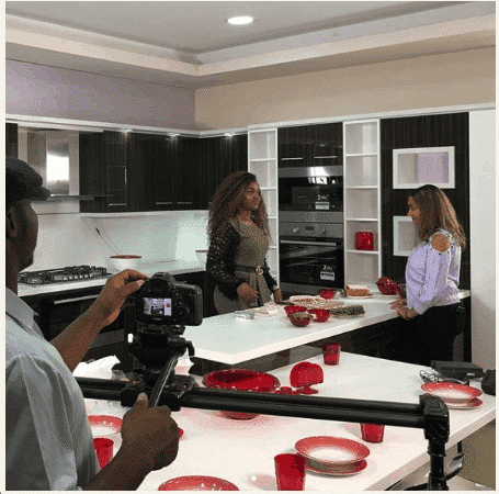 Photo of Chioma's message to Davido as he sponsors her cooking show