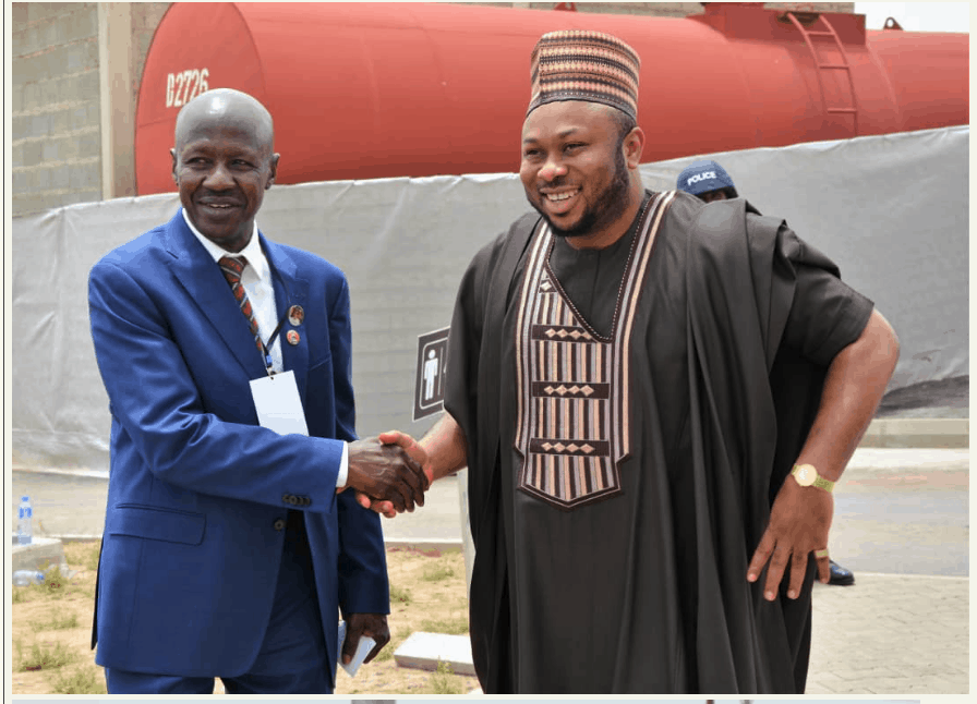 Photo of Olakunle Churchill spotted with Magu at the commissioning of new EFCC office