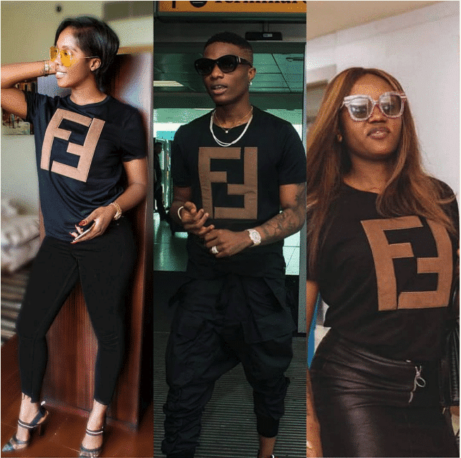 Photo of Tiwa Savage, Wizkid and Davido's assurance, Chioma wear ($690) 248k Fendi Tshirt