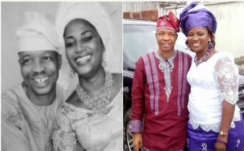 Photo of Hafiz Oyetoro (Saka) and wife, Saidat Olaide celebrate 15th wedding anniversary with interesting story