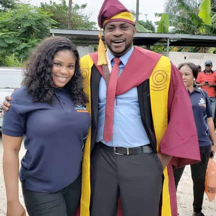 Photo of How Odunlade Adekola's wife, Ruth and favorite colleague, Eniola Ajao celebrated his UNILAG graduation (photos)