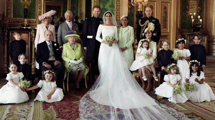 Photo of Official family portraits from Harry & Meghan's royal wedding