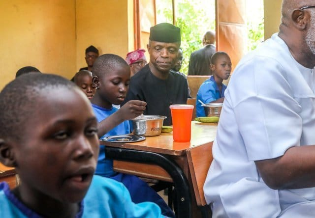 Photo of How we feed 7.6m children daily – Osinbajo (photos)