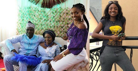Photo of Simi reveals how she felt on the day her mum remarried