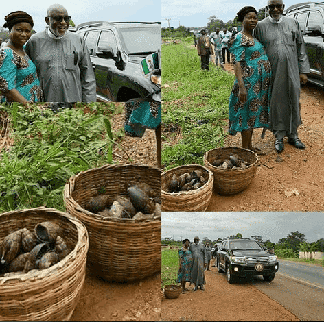 Photo of Snail Seller Meets Her Longtime Customer Who Is Now A State Governor  (photos)