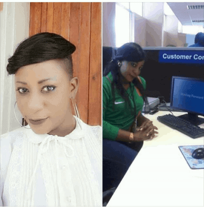 Photo of This female bank staff has been arrested for money laundering (Photo)