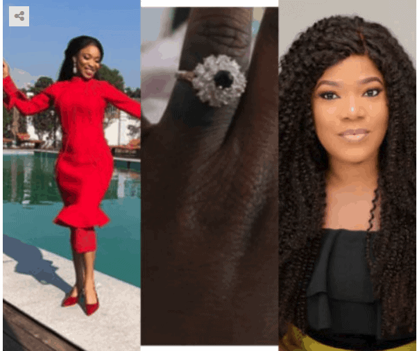 Photo of Tonto Dikeh reacts to Toyin Abraham's engagement