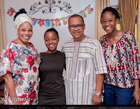 Tope Alabi and her children who are daughters