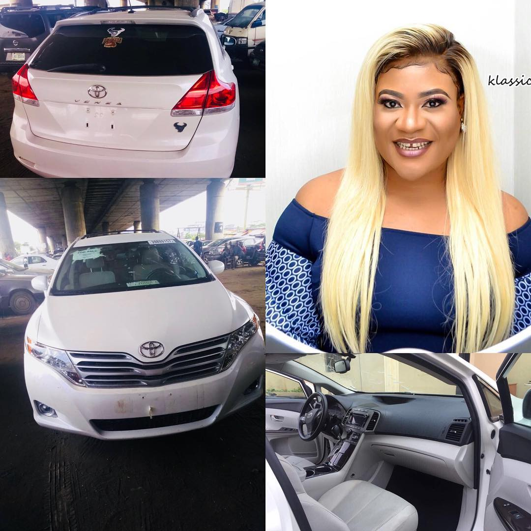 Photo of Actress Nkechi Blessing shows off her newly acquired Toyota Venza